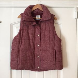 Old Navy puffy vest in raspberry